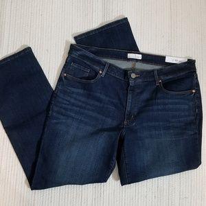NWT! LOFT Curvy Straight Jeans